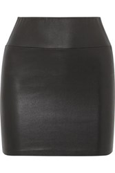 Sprwmn Leather Mini Skirt Black
