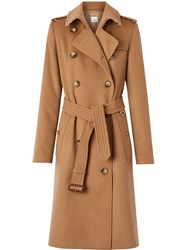 Burberry Cashmere Trench Coat Brown