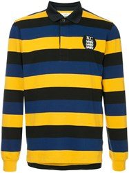 Kent And Curwen Long Sleeved Logo Polo Shirt Multicolour
