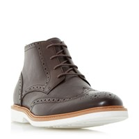 Dune Congo Brogue Casual Boots Brown