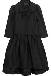 Co Pussy Bow Woven Dress Black