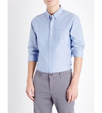 Orlebar Brown Oliver Tailored Cotton Shirt Sky Oxford