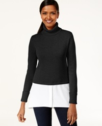 Style And Co. Layered Look Turtleneck Sweater Only At Macy's