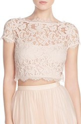 Women's Adrianna Papell Lace Crop Top