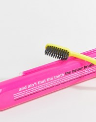 Anatomicals And Ain't That The Tooth The Better Brush Charcoal Tooth Brush Pink Clear