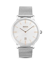 Hugo Boss Tradition Watch 40Mm White Silver