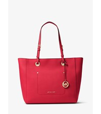 Walsh Large Saffiano Leather Tote Bright Red