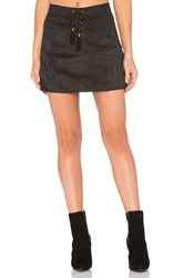 Ella Moss Connelly Faux Suede Skirt Black