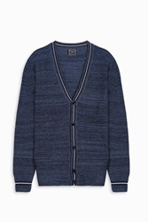 Gray Men S Border V Neck Cardigan Boutique1 Navy