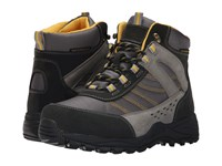 Drew Shoe Glacier Black Grey Nubuck Yellow Trim Women's Hiking Boots