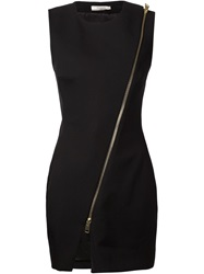 Bouchra Jarrar Front Zip Fitted Dress Black