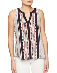 Sanctuary Printed Sleeveless Top Lacey