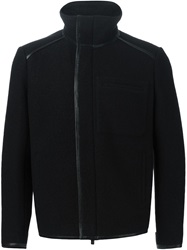 Fendi Lambskin Piped Jacket Black