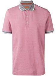 Missoni Contrast Collar Polo Shirt Red