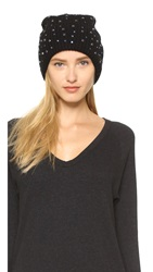 Markus Lupfer Scattered Jewels Beanie Hat Black