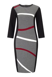 James Lakeland Wavey Stripe Dress Black
