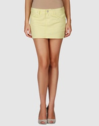 Paul Frank Mini Skirts Acid Green