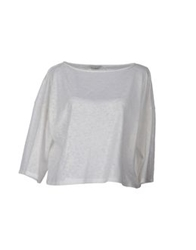 Axara Paris Short Sleeve Sweaters White