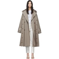 Rokh Beige Oversized Trench Coat