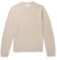Norse Projects Sigfried Brushed Wool Sweater Cream