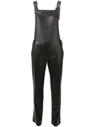 Ermanno Scervino Faux Leather Dungarees