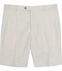 Reiss Chilwa S Tailored Linen Shorts In Grey