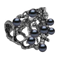 Solomeina Golden Courage Ring Black Rhodium