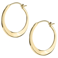 Dinny Hall Small Tapering Click Hoop Earrings Gold