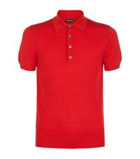 Tom Ford Cotton Knit Polo Top Male Red