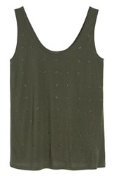 Kenneth Cole Women's New York Rings Tank Top Deep Forest