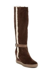 Aquatalia By Marvin K Callie Faux Fur Boot Brown