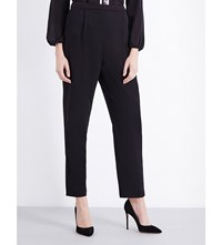 Alice Olivia And Jessi Tapered Crepe Trousers Black