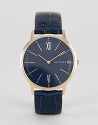 Tommy Hilfiger Cooper Leather Watch 41Mm Black