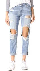 True Religion Cameron Distressed Slim Boyfriend Jeans Bad Girl