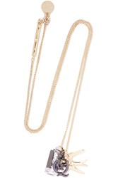 Mcq By Alexander Mcqueen Gold Tone Charm Necklace Metallic