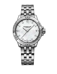 Raymond Weil Tango Diamond Mother Of Pearl Dial Bracelet Watch Silver