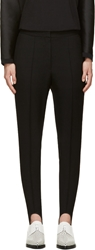 Stella Mccartney Black Tweed Bernard Stirrup Leggings