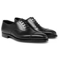 George Cleverley Charles Cap Toe Full Grain Leather Oxford Shoes Black