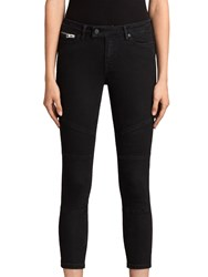 Allsaints Biker Cropped Jeans Washed Black