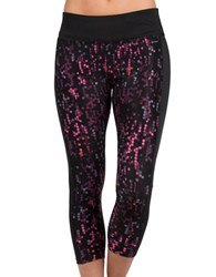 Jockey Geometric Capri Leggings Black Purple