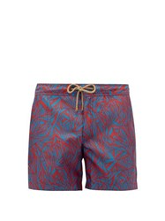 Thorsun Titan Graphic Print Swim Shorts Red Multi