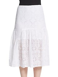 Bcbgeneration Eyelet Knit Skirt Optic White