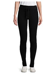 Betsey Johnson Ribbed Sweatpants Black