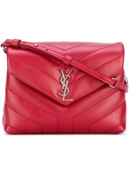 Saint Laurent Monogram Pouch Bag Women Leather One Size Red