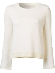 Ramy Brook Flared Sleeve Jumper White