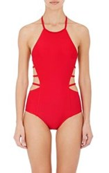 Chromat Amelia One Piece Halter Swimsuit Red