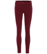 Ag Jeans The Legging Ankle Corduroy Skinny Red