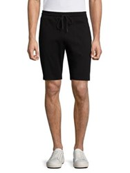 Saks Fifth Avenue Textured Striped Shorts Black