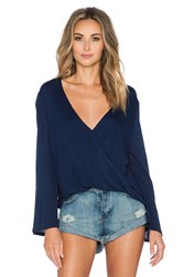 Blue Life Hayley Long Sleeve Top Navy