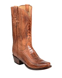 Lucchese Anderson Ostrich Cowboy Boots Brown
